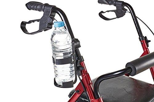 Premium Becher / Flaschen Getränke Halter Halterung für Rollator